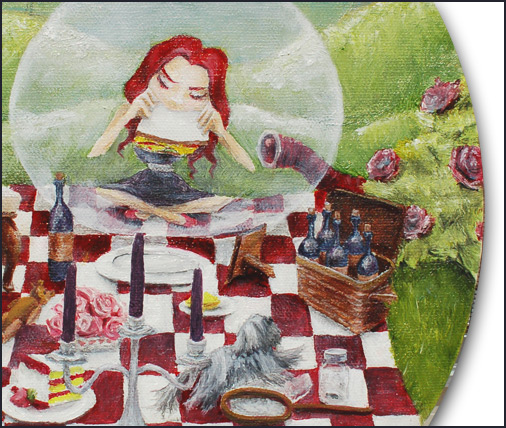 Picnic - A Painting by Mandy Maxwell