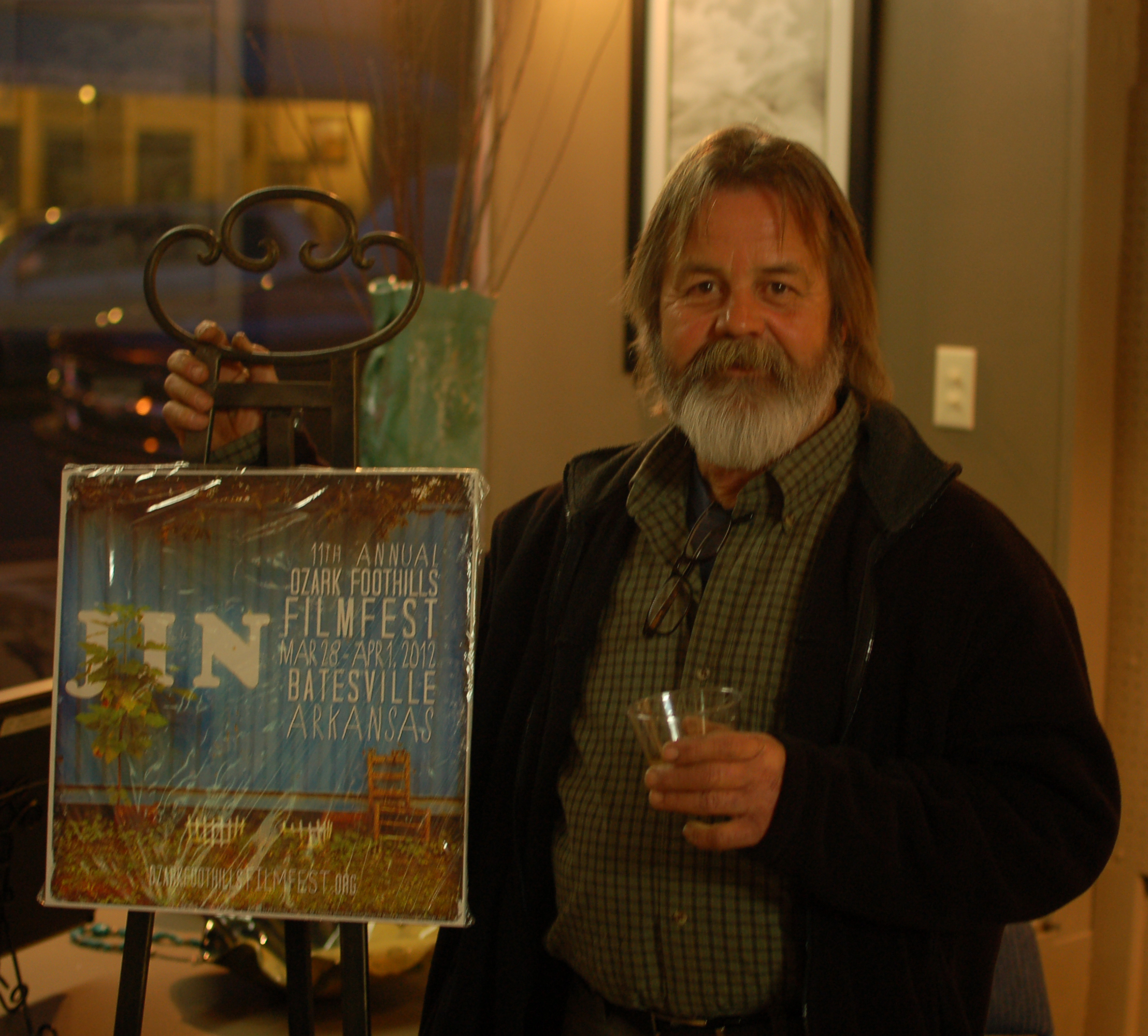 My dad with the FilmFest poster