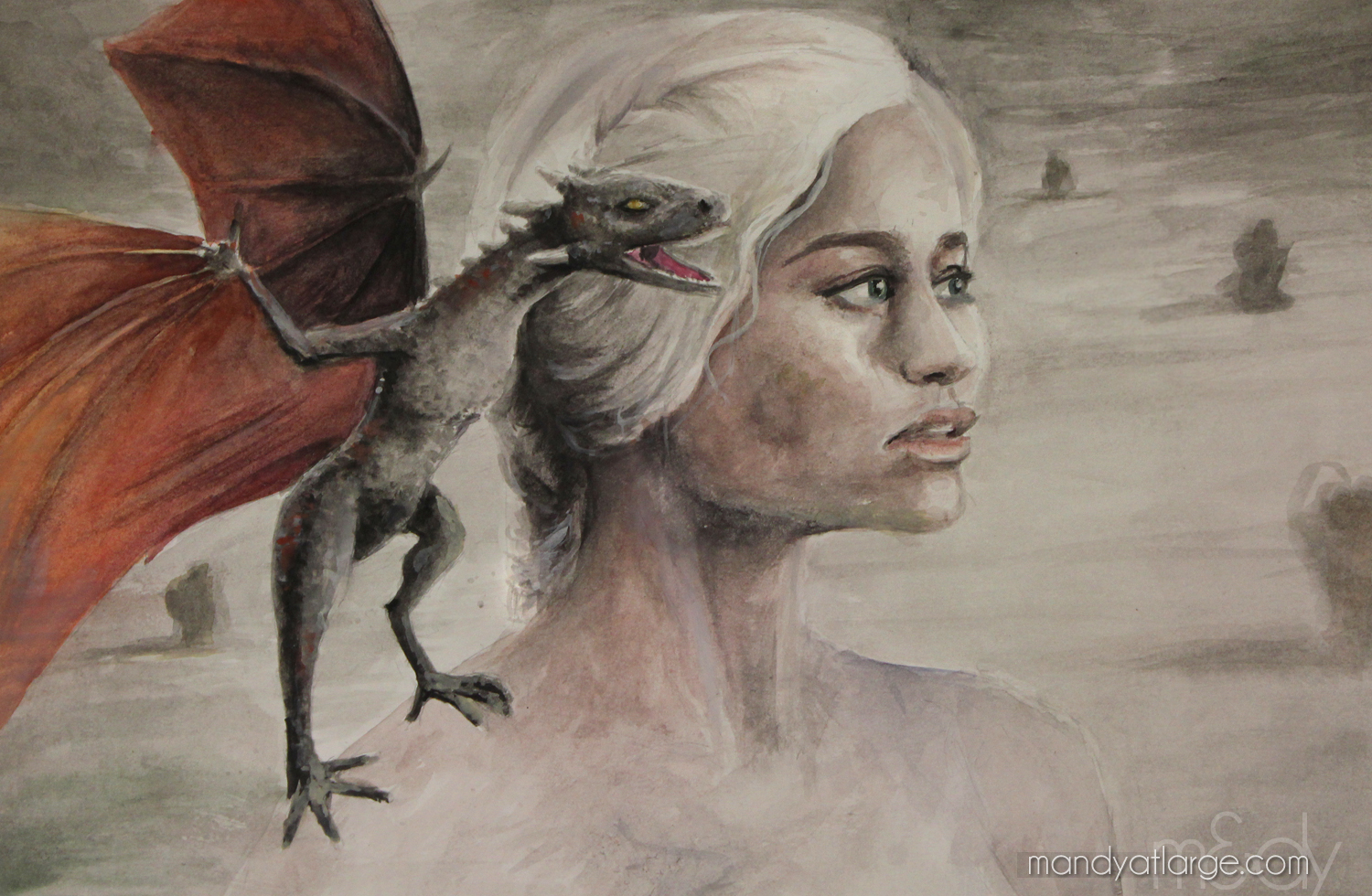 Khaleesi Fan Art by Mandy Maxwell