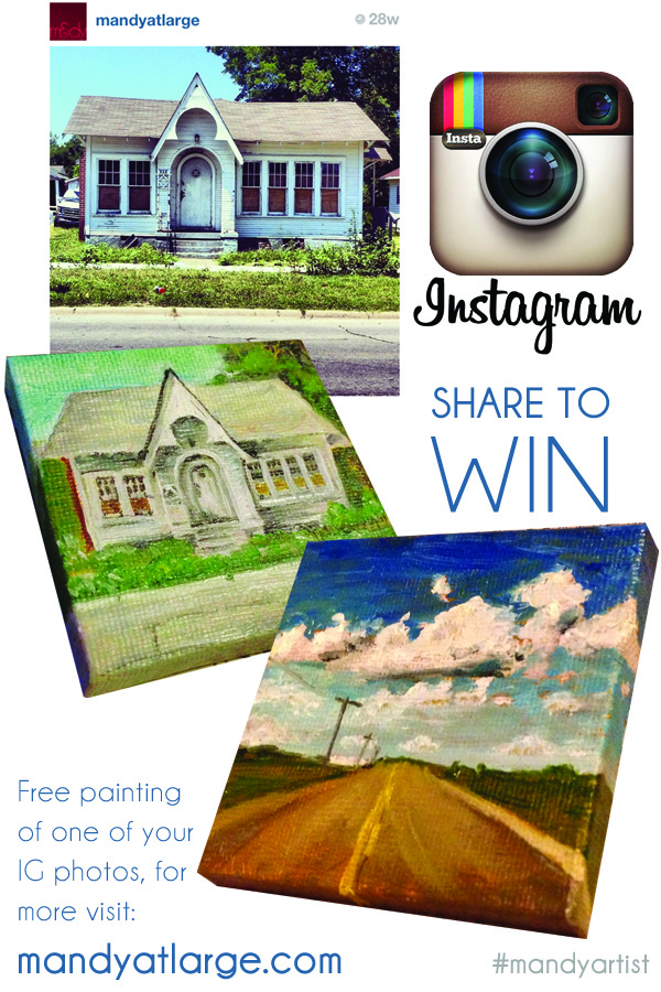 Win An Instagram-style Painting by Mandy Maxwell