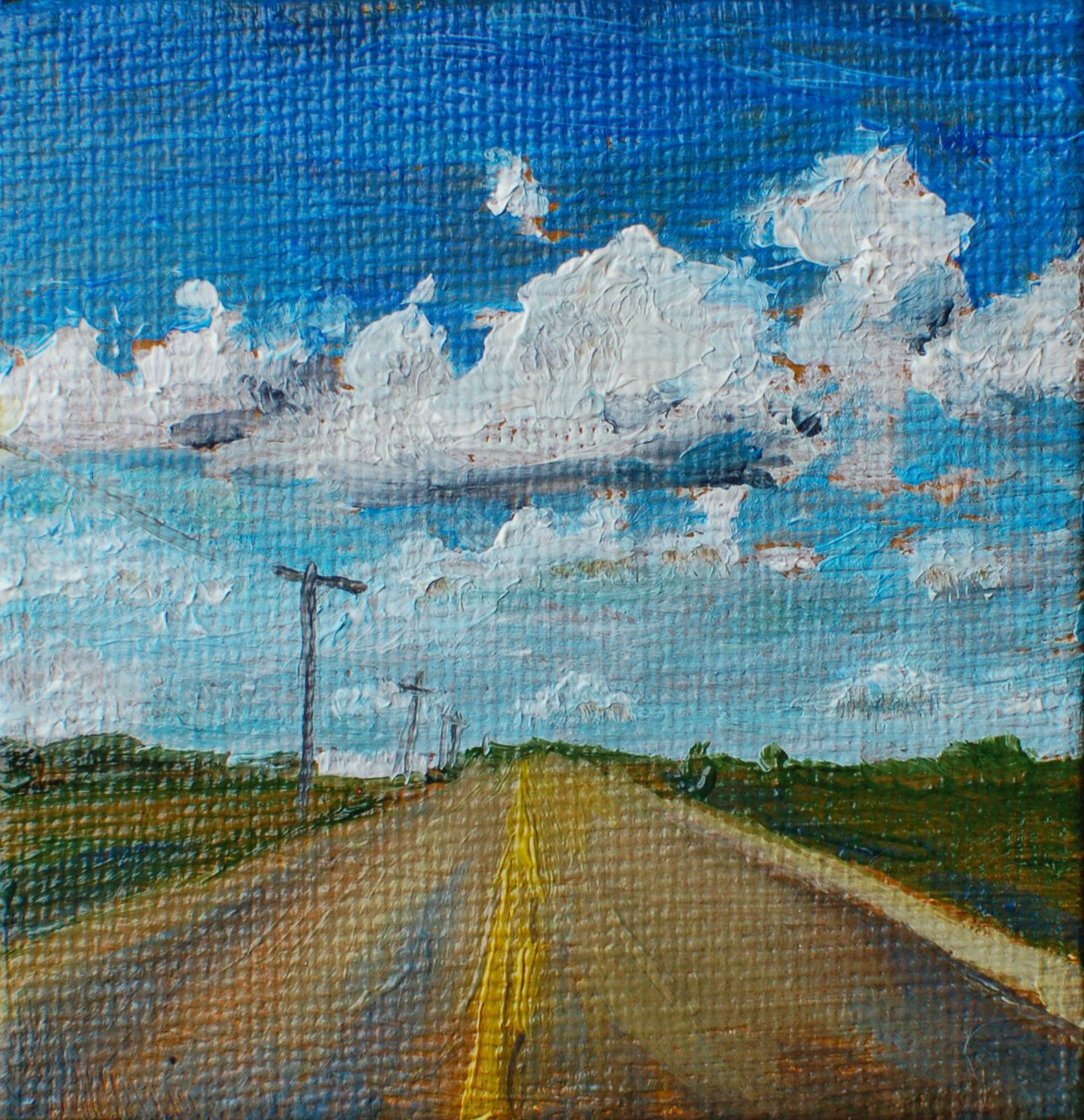 Open Road – 2 1/2 x 2 1/2.