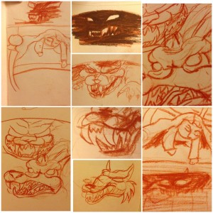 Werewolf Sketch by Mandy Maxwell