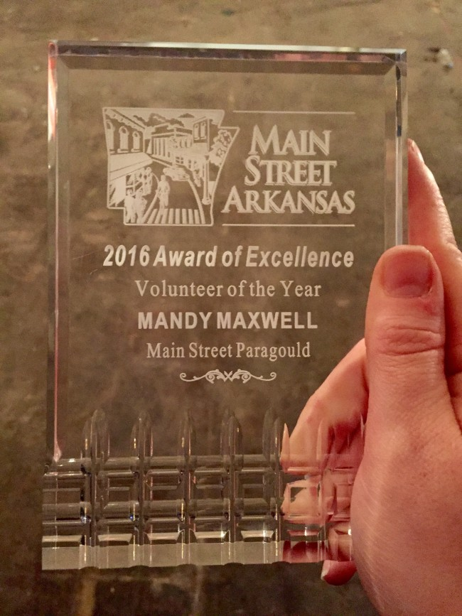 Arkansas Main Street Volunteer of the Year 2016